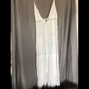 Ek Attire long white flowy dress. Size L